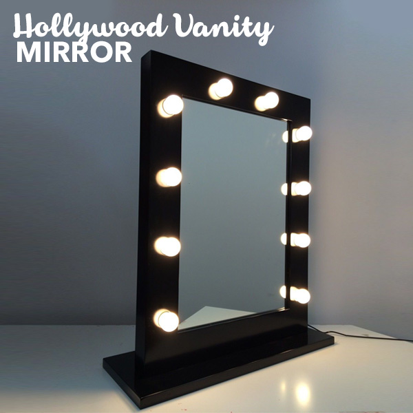 Vanity Mirror With Lights Hollywood Style : Hollywood Vanity Makeup Mirror With Lights in Black Buy Makeup Mirrors