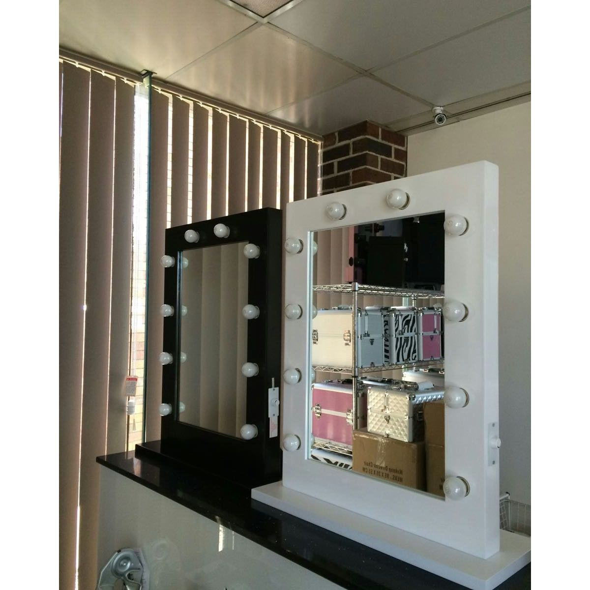 Hollywood Vanity Makeup Mirror With Lights in Black Buy Makeup Mirrors