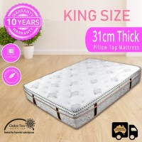 King Pocket Spring Wave Foam Pillow Top Mattress