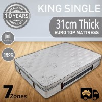 Latex King Single Mattress with Pillow Topper