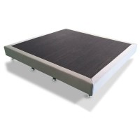 Queen Size Fabric Slatted Ensemble Bed Base Grey