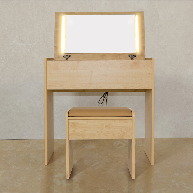 emma dressing table w led lights stool in maple buy. Black Bedroom Furniture Sets. Home Design Ideas