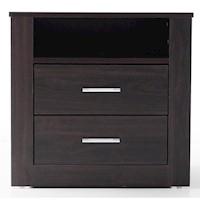 Bondi 2 Drawer Bedside Table in Walnut
