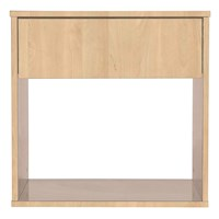 Emma Minimal Bedside Table w/ Drawer in Maple Tone