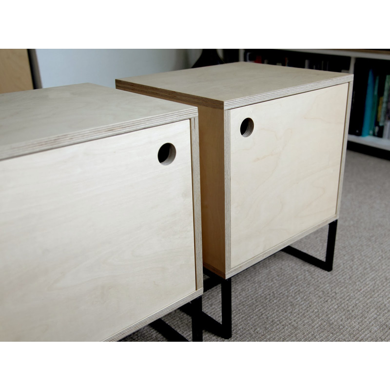 Natural plywood bedside table with spacious drawer buy for Plywood bedside table