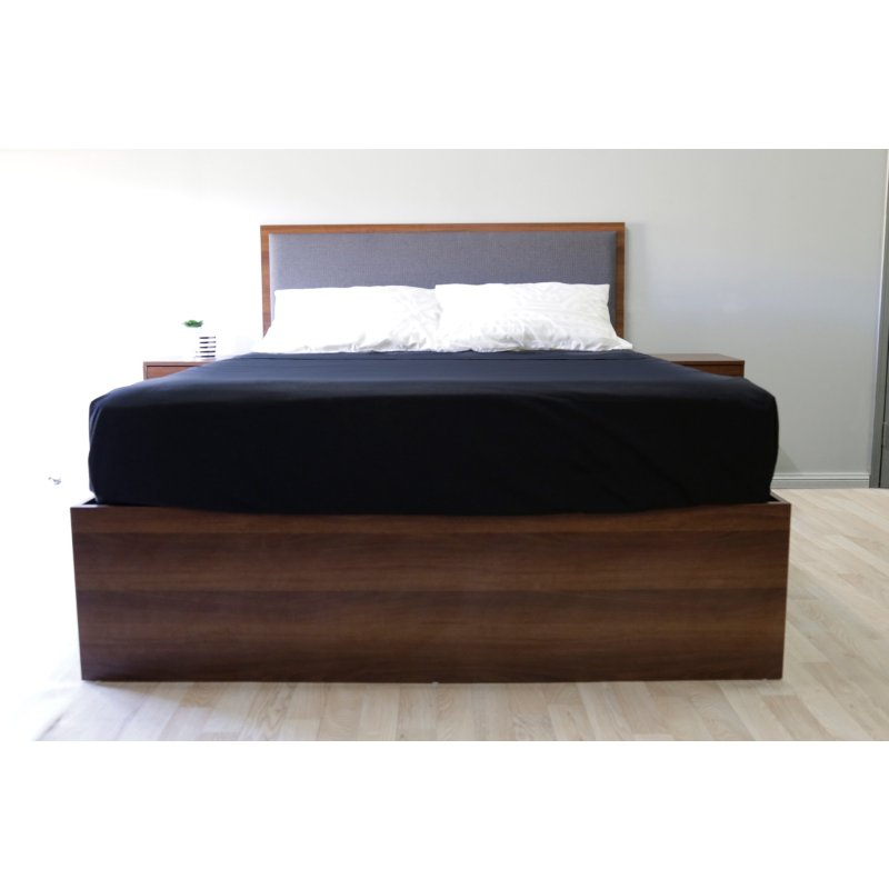 Minimalist queen size padded headrest bed frame buy for Padded bed frame
