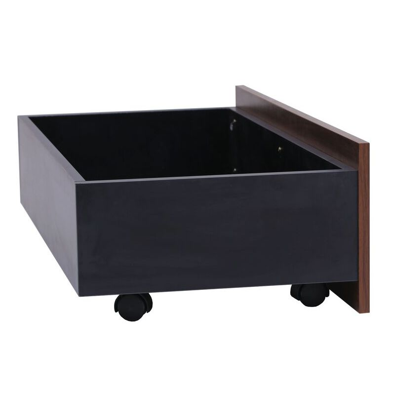 Pu leather queen bed frame w drawers cup holders buy queen bed frame - Single leather bed with drawers ...