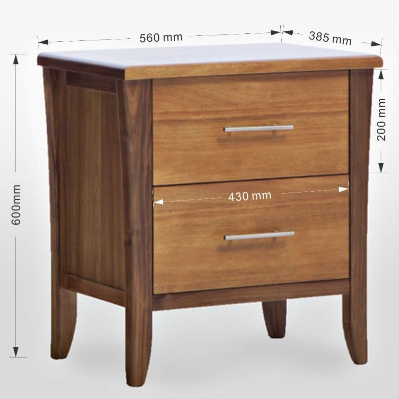 Avoca bedside table tasmanian blackwood timber buy wooden bedside tables - Bedside table that attaches to bed ...