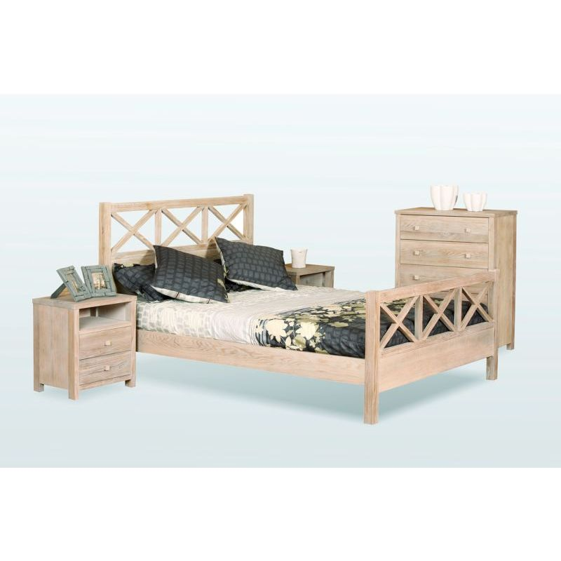 seaside queen bed frame chinese oak solid timber