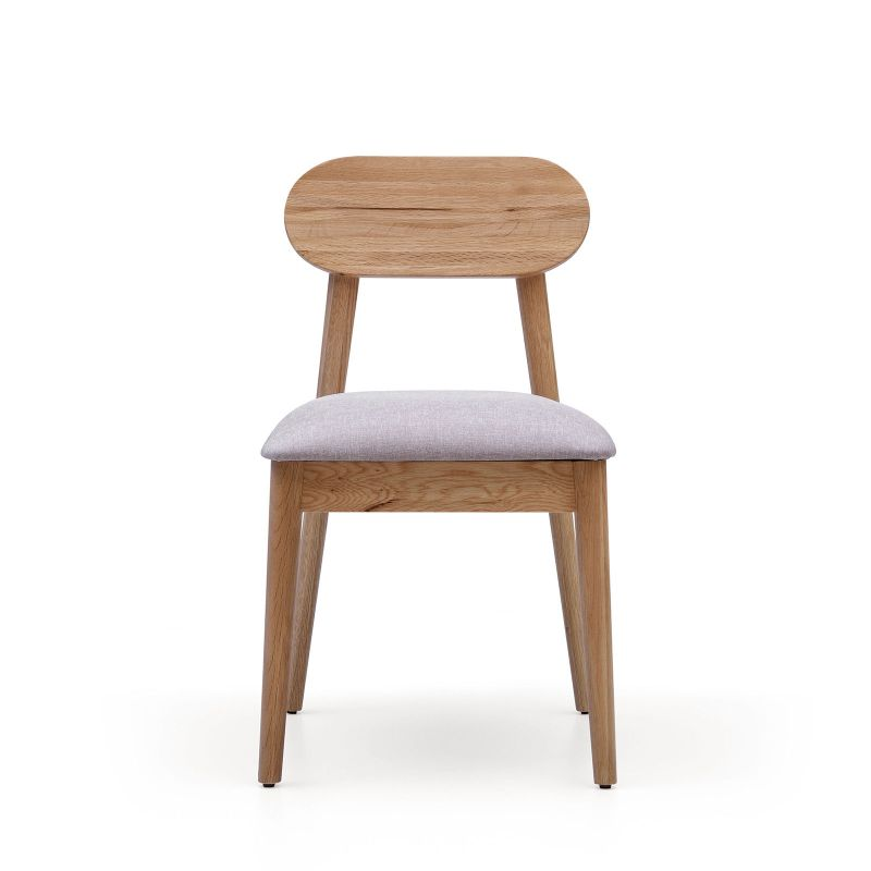 Alison solid white oak flax fabric dining chair buy for White fabric dining chairs