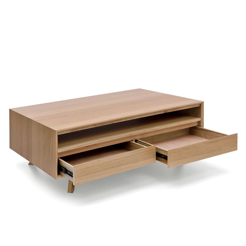 Alison modern white oak veneer coffee table buy for Buy modern coffee table