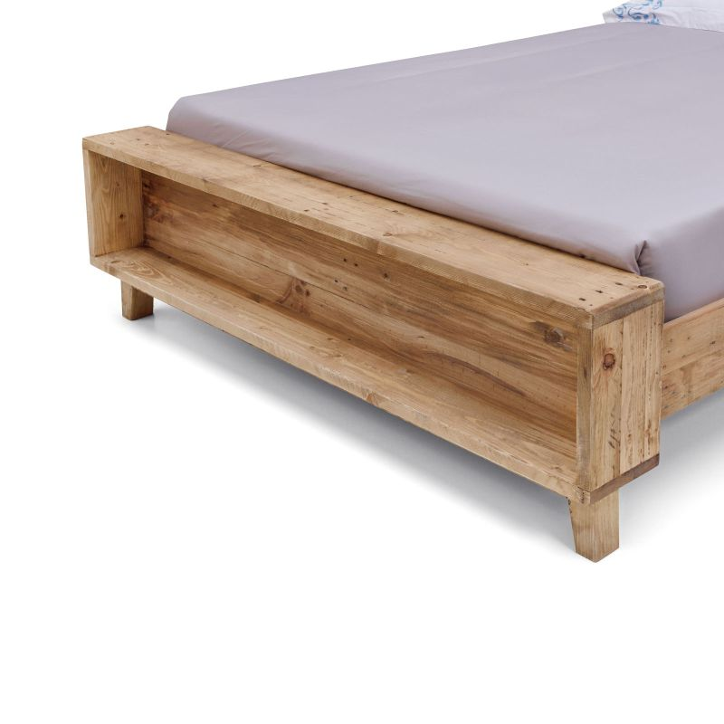 Portland King Size Rustic Recycled Timber Bed Frame. H M S Remaining
