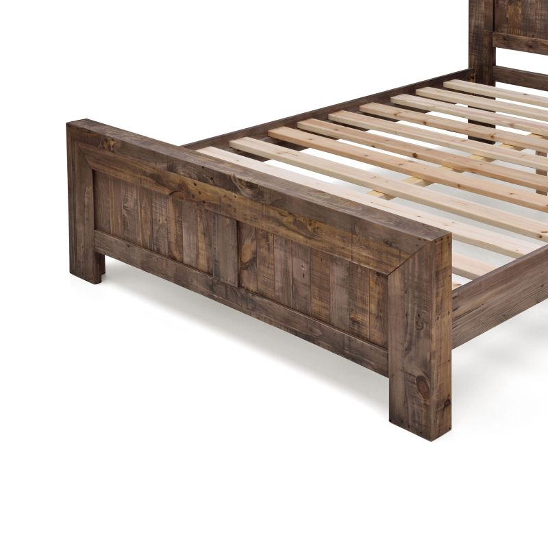Boston queen rustic pine recycled timber bed frame buy for Recycled timber beds