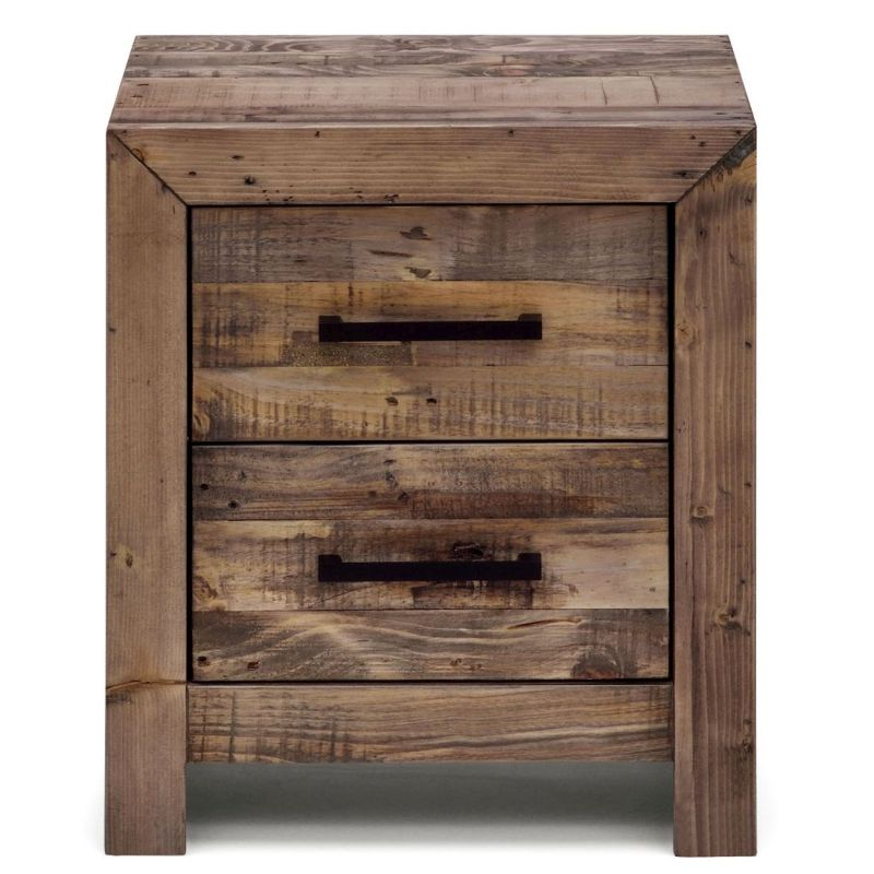 Boston recycled timber wooden bedside table stand buy