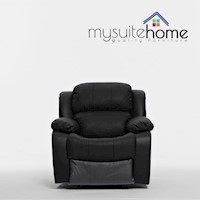 Kacey Single Recliner Chair in Black PU Leather