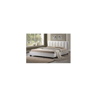 Paris Queen Size PU Leather Slatted Bed Frame White