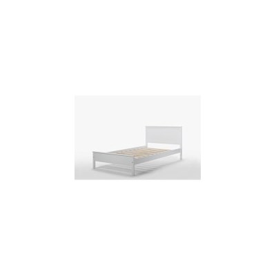 Rojo King Single Rubber Wood Bed Frame in White