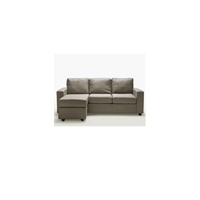 Ella Fabric 3 Seat L-Shape Lounge Sofa in Rice Grey