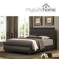 Ansel King Size PU Leather Chesterfield Bed Frame