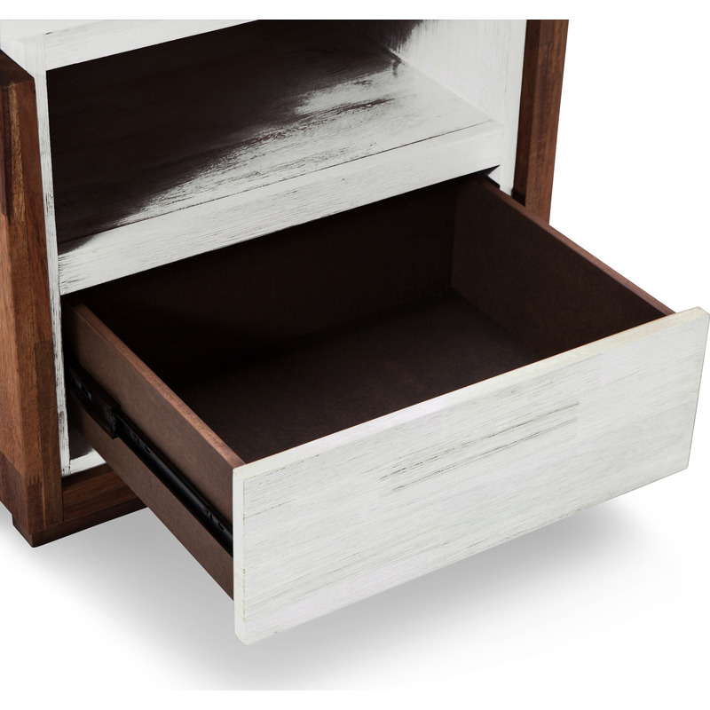 Catalina bedside table w storage shelf and drawer buy for Bedside table shelf