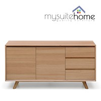 Alison Modern White Oak Natural Veneer Buffet