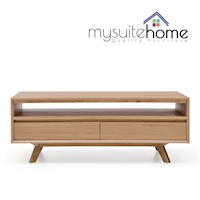Alison Modern White Oak Veneer Coffee Table - 1.3m