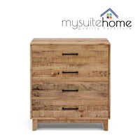 Portland Recycled Timber Chest of 4 Drawers Tallboy