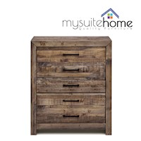 Boston Recycled Timber Tallboy Chest of 5 Drawers