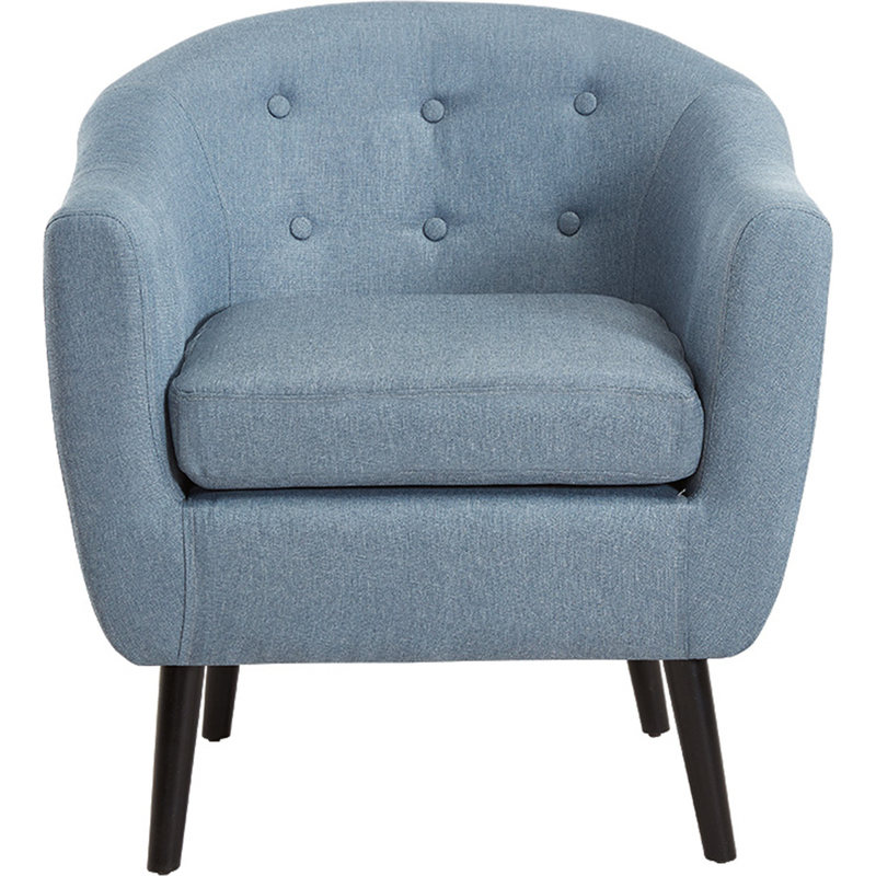 Alicia contemporary fabric armchair in light blue buy for Light blue armchair