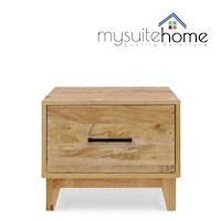 Portland Recycled Pine Lamp Side Table with Drawer
