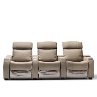 Anna Electric Recliner Leather Arm Chair for 3 Grey