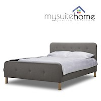 Brayden Double Fabric Bed Frame in Light Grey
