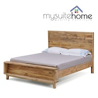 Portland Double Size Recycled Pine Timber Bed Frame