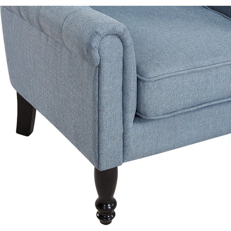 Jane french provincial fabric armchair light blue buy for Light blue armchair