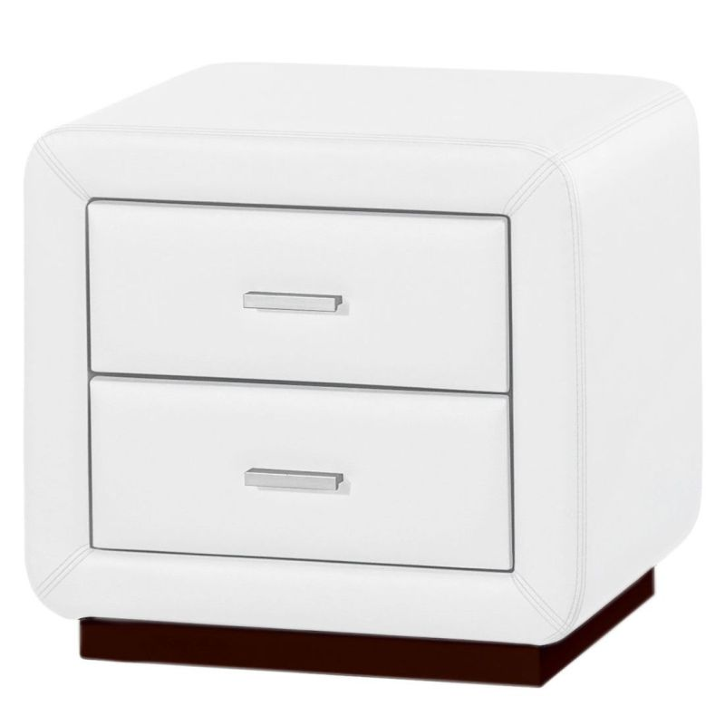 Emily pu leather bedside table night stand in white buy bedside emily pu leather bedside table night stand in white watchthetrailerfo