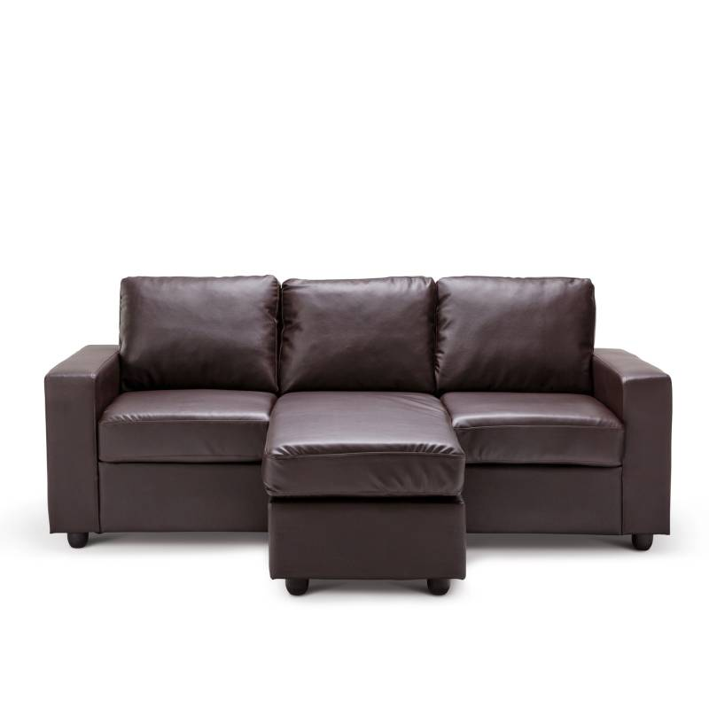 olivia l shaped couch with chaise lounge in brown buy sofas