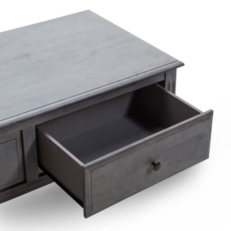 Buy Coffee Table With Drawers: Lydia Coffee Table With 2 Drawers In Grey Wood