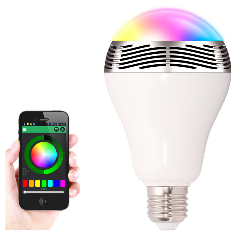 Led bulb with bluetooth and built in speaker buy for Led light bulb with built in bluetooth speaker