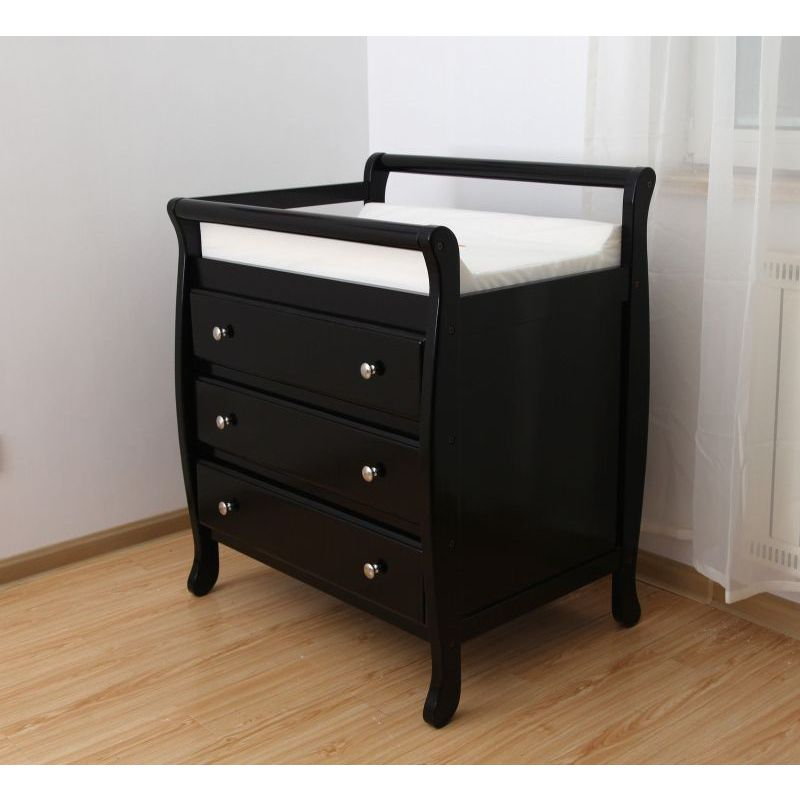 Espresso Wooden Baby Change Table With 3 Drawers Buy