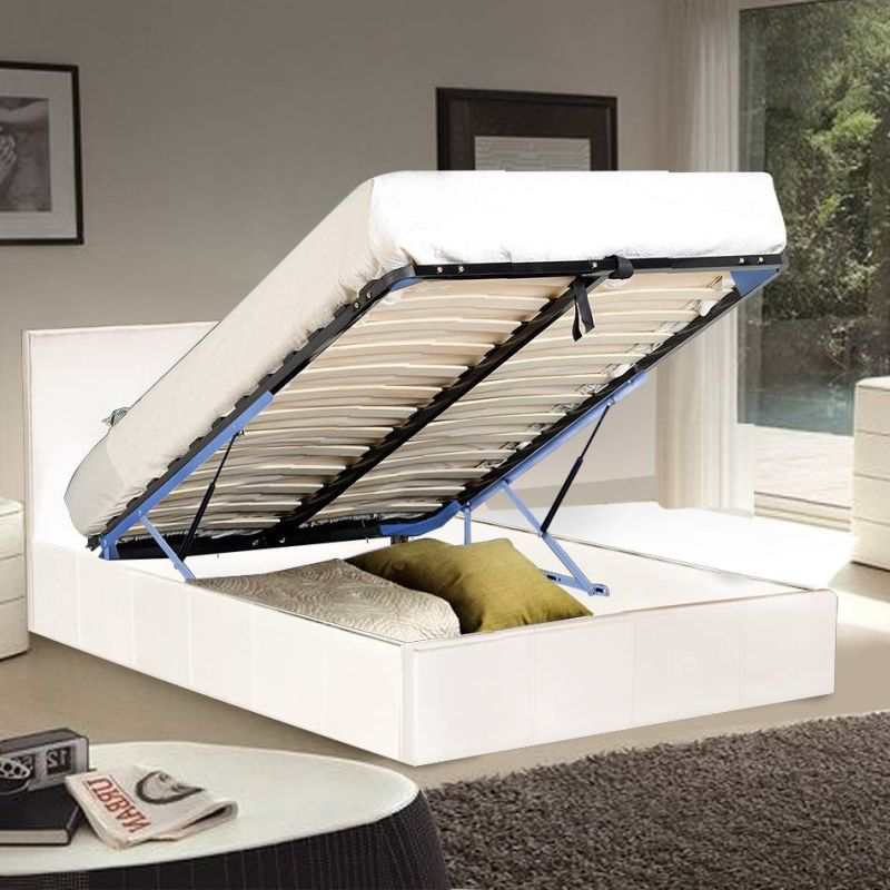 Sabina Queen Gas Lift Storage Bed Frame In White Buy
