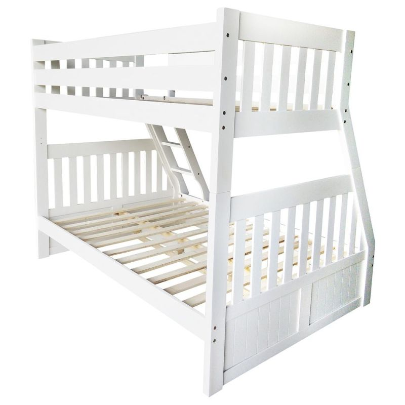 Cornelia Kid\'s Trio Pine 3 Drawer Bunk Bed in White | Buy Bunk Beds