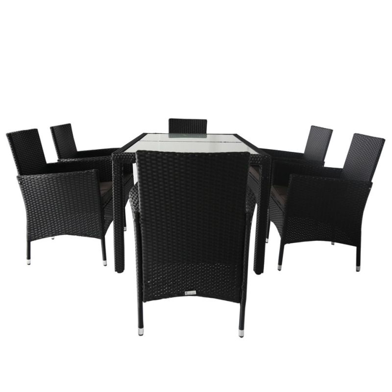 7pc Monte PE Wicker Outdoor Dining Set in Black Buy 6  : LOMONTE SA BLACK03 from www.mydeal.com.au size 800 x 800 jpeg 39kB