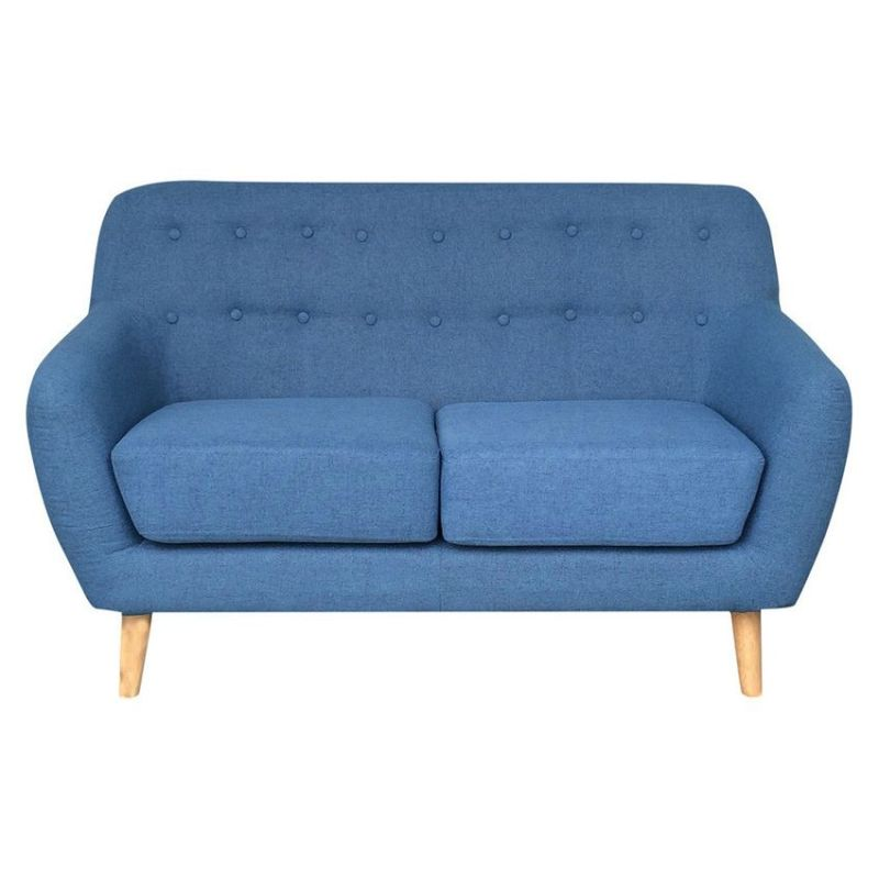 Lovenholm 2 Seat Scandinavian Sofa In Cyan Azure Buy Sofas