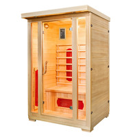 Infrared Home Sauna and Steam Shower Room for 2