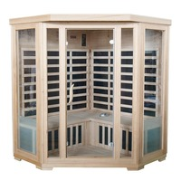 Valo Infrared Corner Home Sauna for 4 w/ Speakers