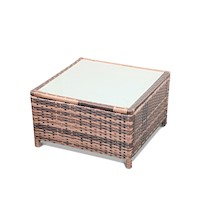Romano Outdoor Wicker Side Coffee Table in Brown