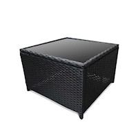 Romano Outdoor Wicker Side Coffee Table in Black
