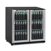 CyberCool 210L Under Bench Bar Fridge, Steel