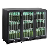 CyberCool 330L Under Bench Bar Fridge, Black