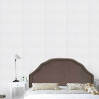 Seville King Size Fabric Bed Head in Chocolate